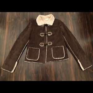Gorgeous Suede faux shearling Coat Jacket